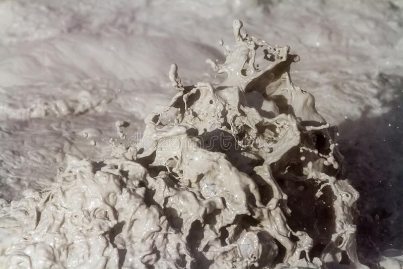 Mudpot Closeup royaltyfria foton