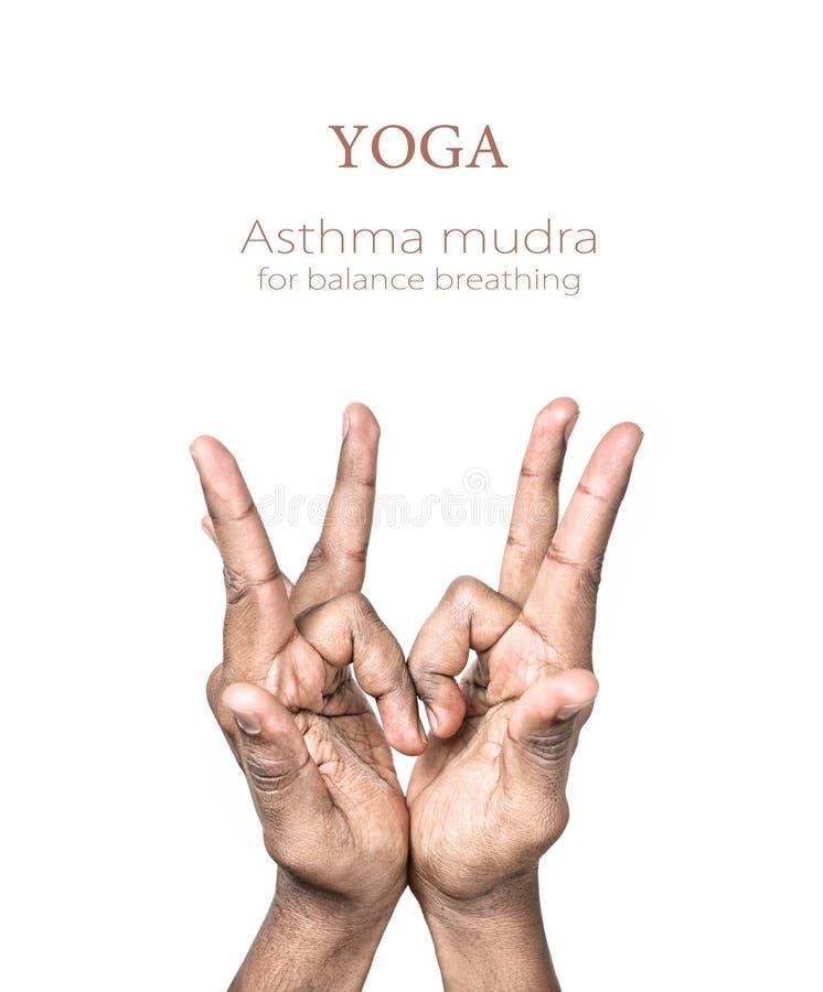Mudra d'asthme de yoga image stock