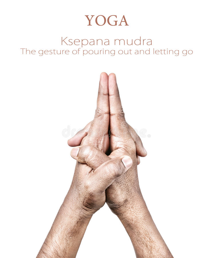 Mudra de Ksepana photo libre de droits