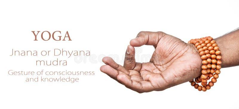 Mudra de la yoga JNANA imagen de archivo libre de regalías