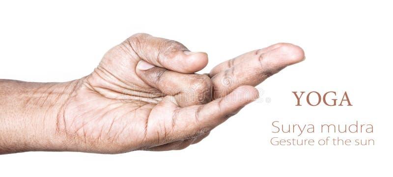 Mudra de Surya de la yoga imagen de archivo libre de regalías