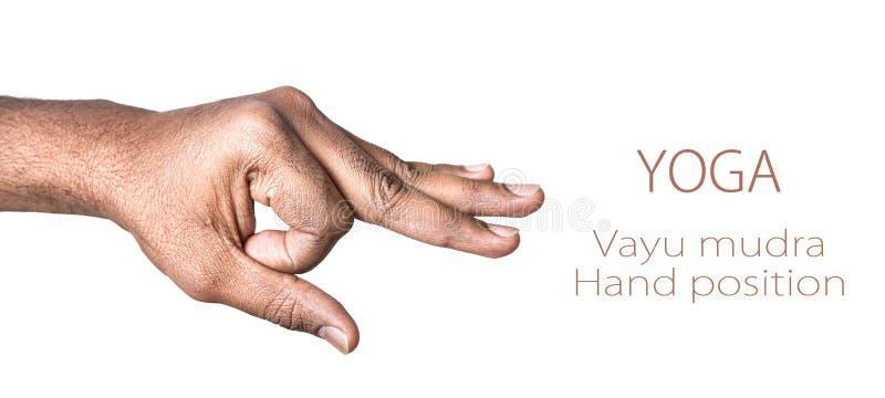 Mudra de Vayu de la yoga imagen de archivo libre de regalías