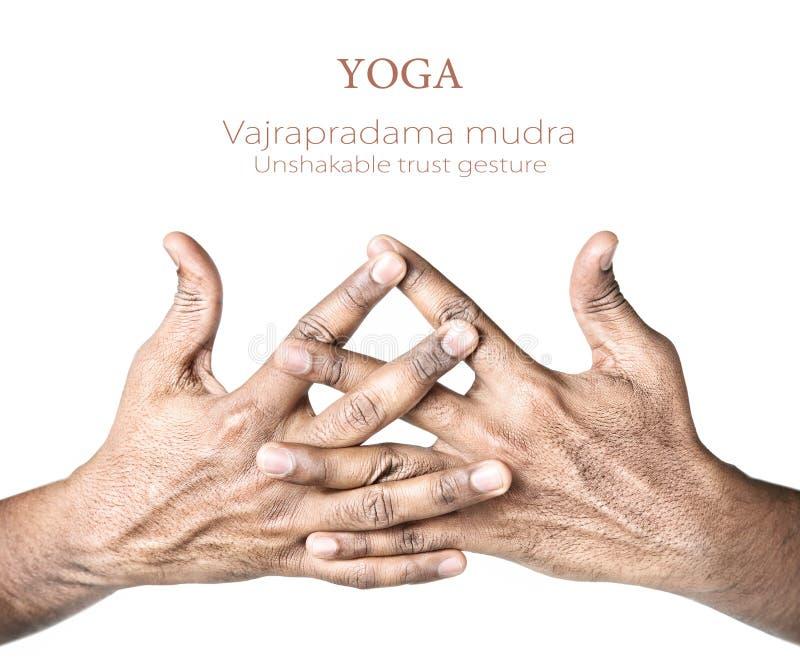 Mudra del vajrapradama de la yoga foto de archivo libre de regalías