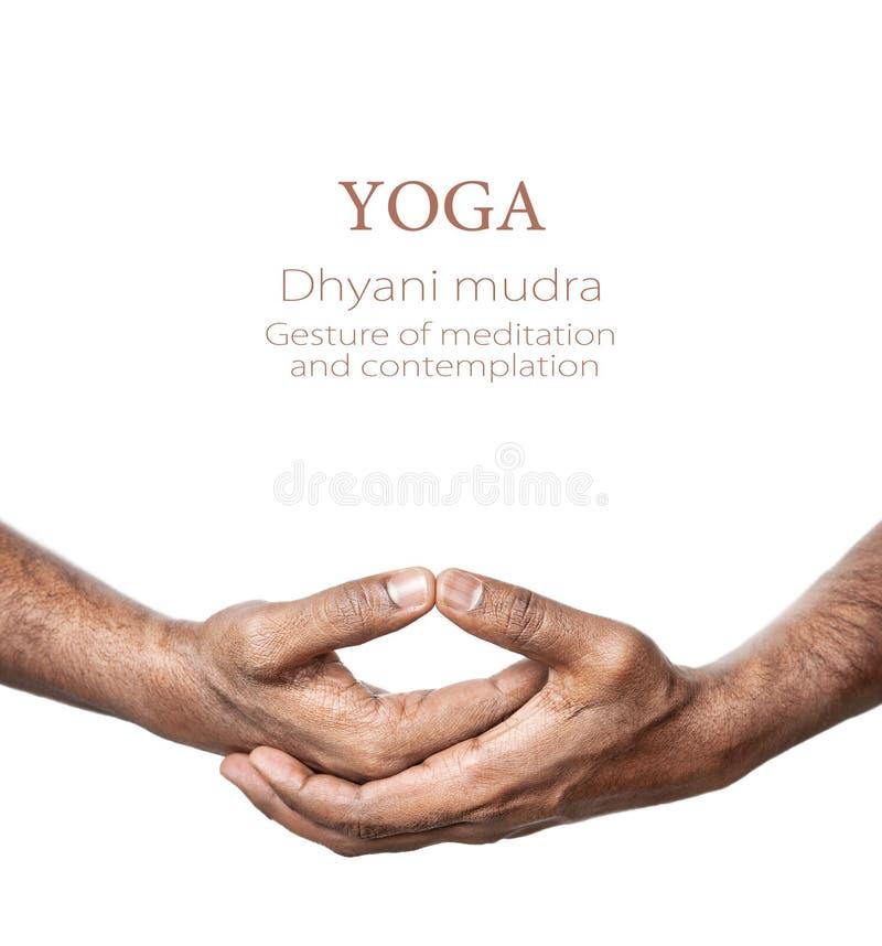 Mudra di Dhyani di yoga immagini stock