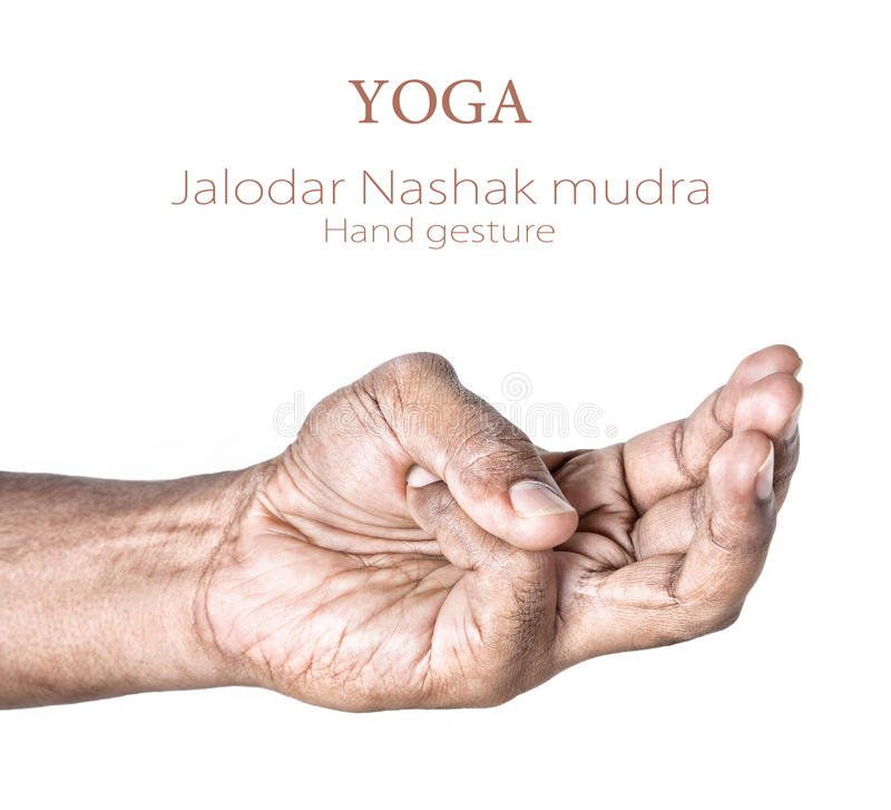 Mudra di Jalodar Nashak di yoga immagini stock libere da diritti