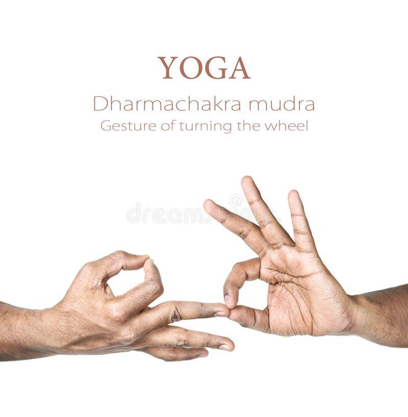 Mudra van Dharmachakra van de yoga stock foto