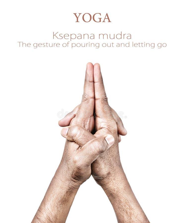 Mudra van Ksepana royalty-vrije stock foto