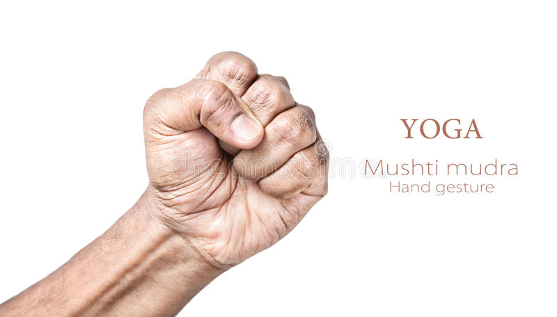Mudra van Mushti van de yoga royalty-vrije stock afbeelding