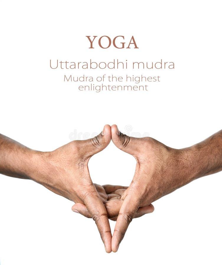 Mudra van Uttarabodhi van de yoga royalty-vrije stock fotografie