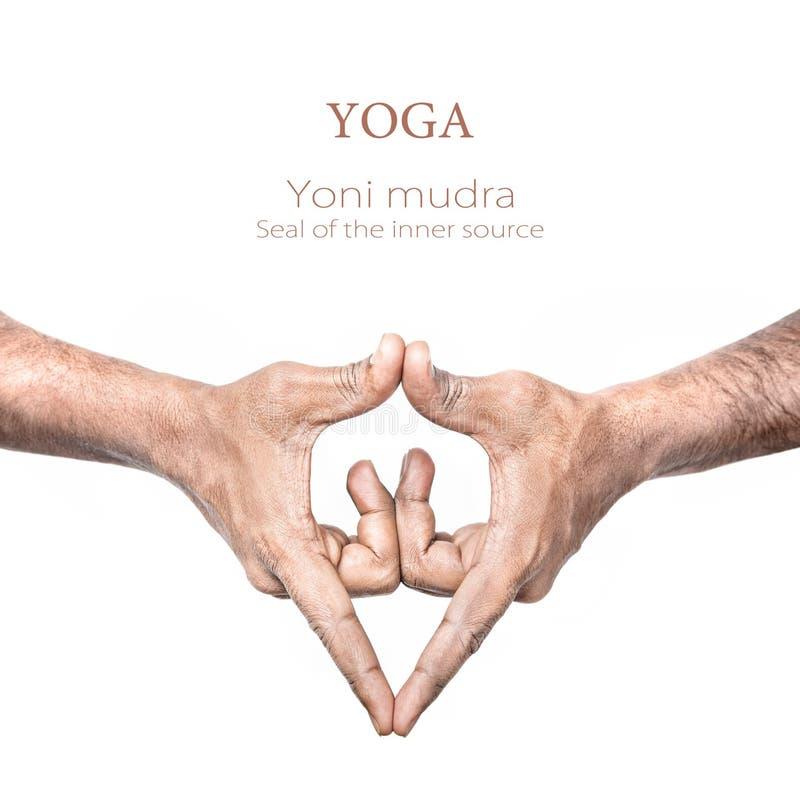 Mudra van Yoni van de yoga stock foto