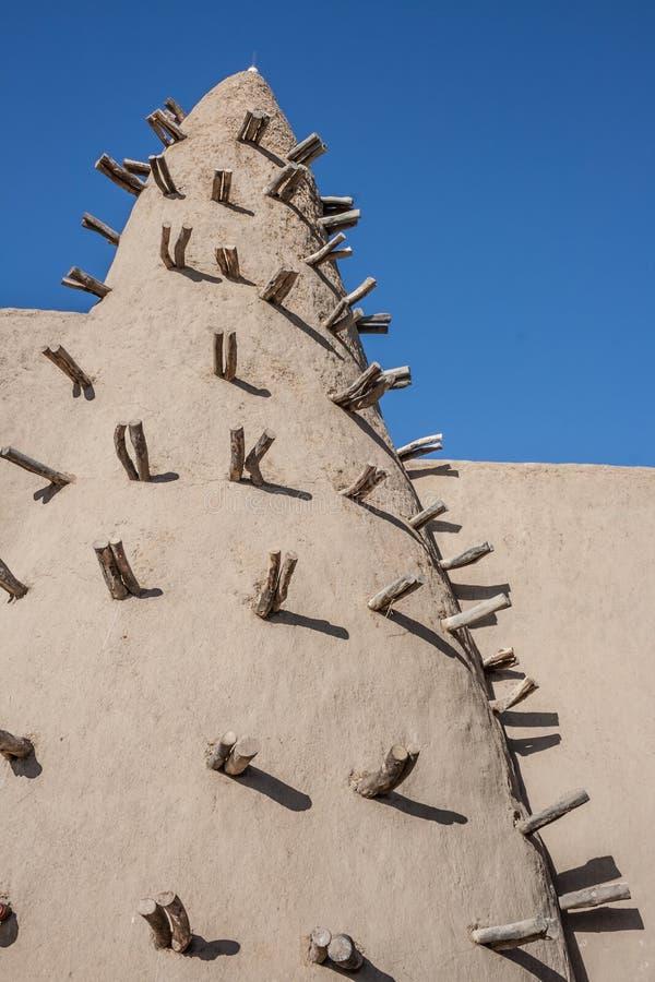 Mudtegelstenmoské i Timbuktu, Mali, Afrika. fotografering för bildbyråer