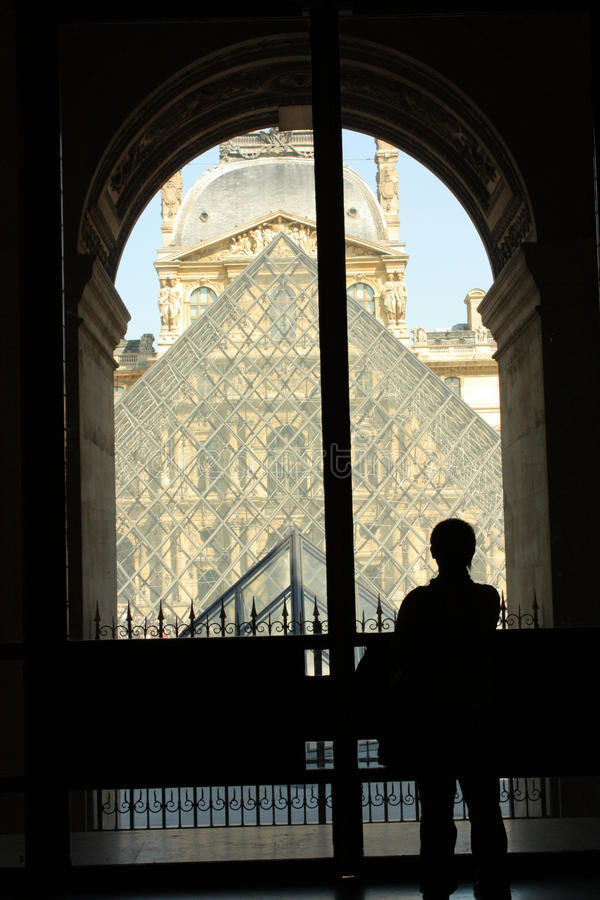 Mueé du Louvre foto de archivo