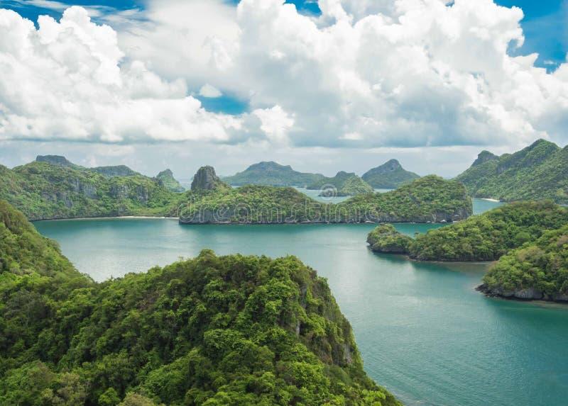Mue酸值Angthong全国海岸公园,苏梅岛,泰国 免版税库存图片