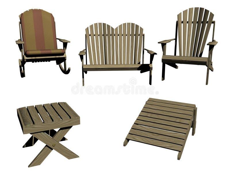 Muebles al aire libre libre illustration