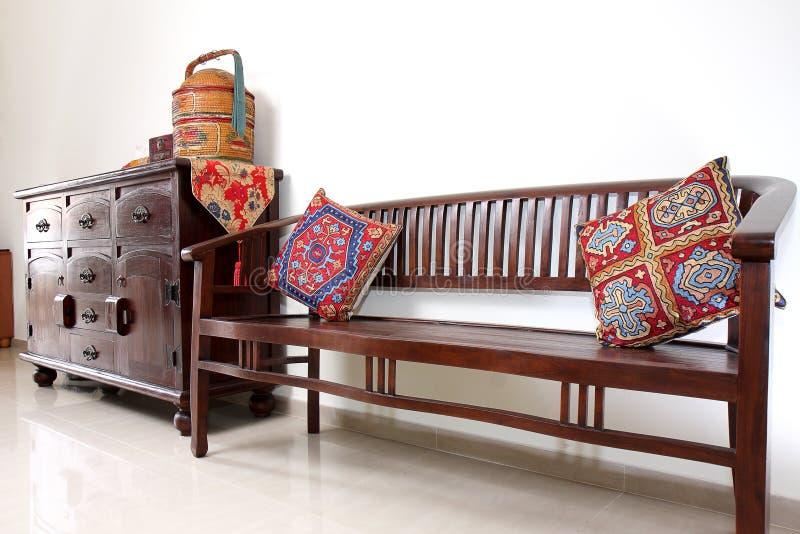 Muebles asiáticos del Teakwood foto de archivo