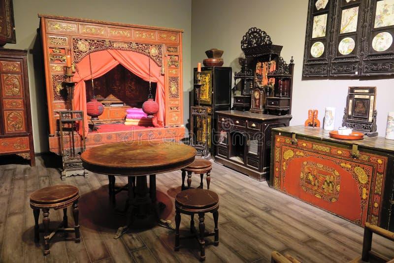 Muebles clásicos chinos imagen de archivo libre de regalías