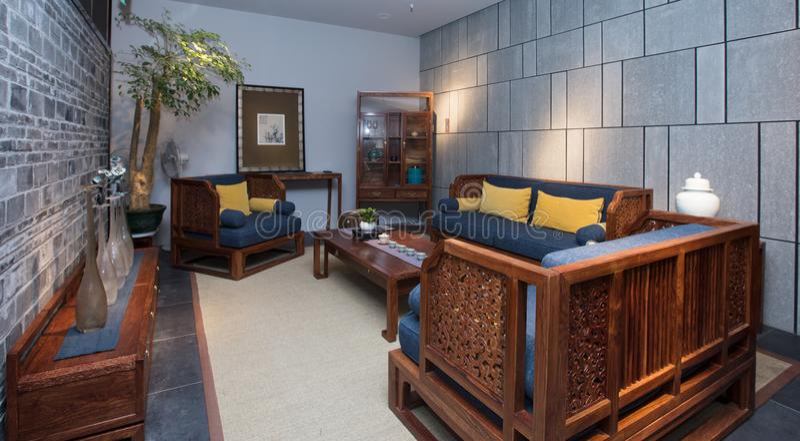 Muebles de caoba chinos modernos fotos de archivo libres de regalías