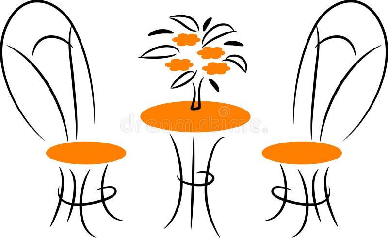 Muebles de Dinning ilustración del vector