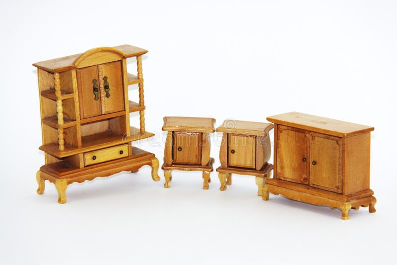 Muebles de la casa de muñeca foto de archivo libre de regalías