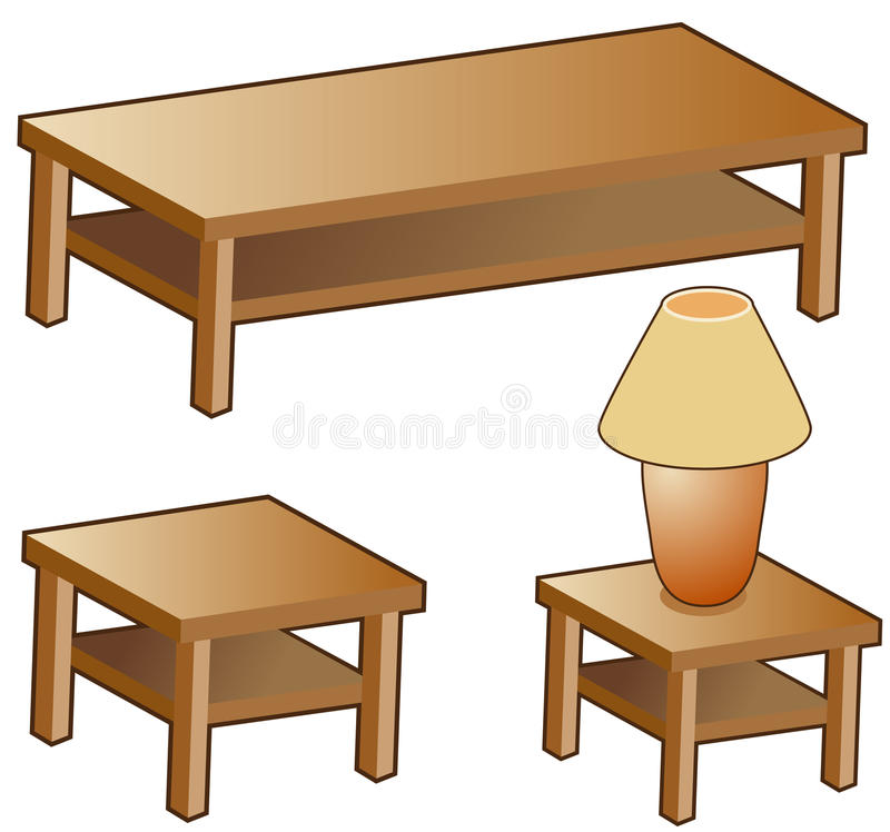 Muebles de la sala de estar stock de ilustración