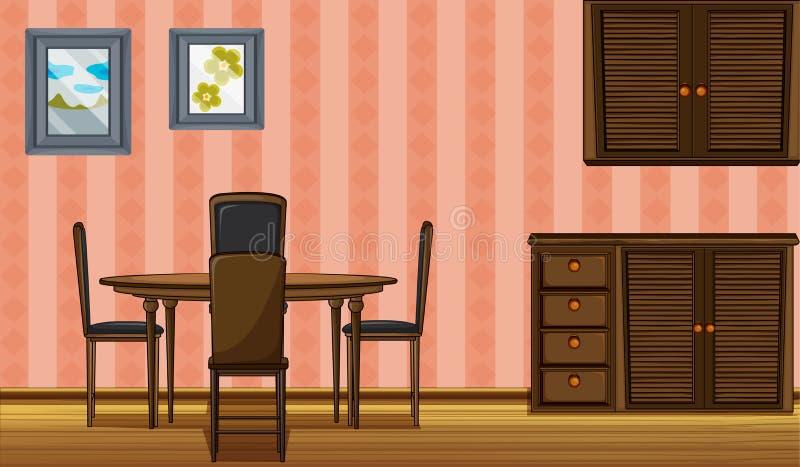 Muebles de madera ilustración del vector