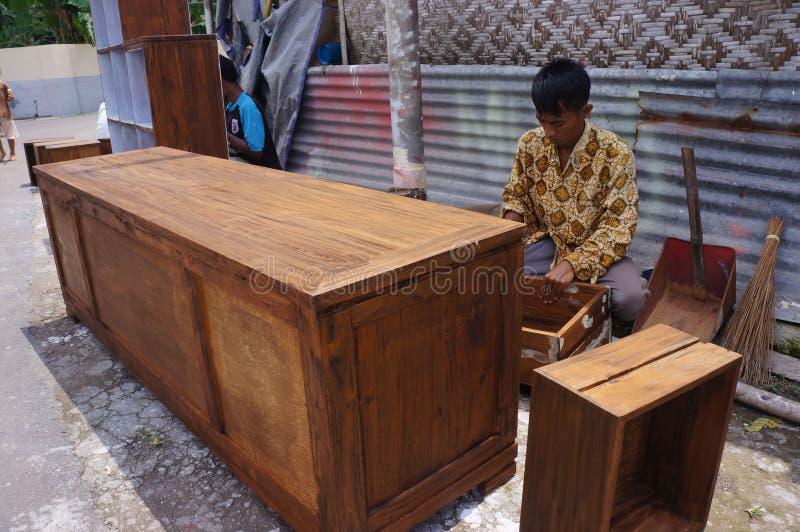 Muebles de madera fotografía de archivo