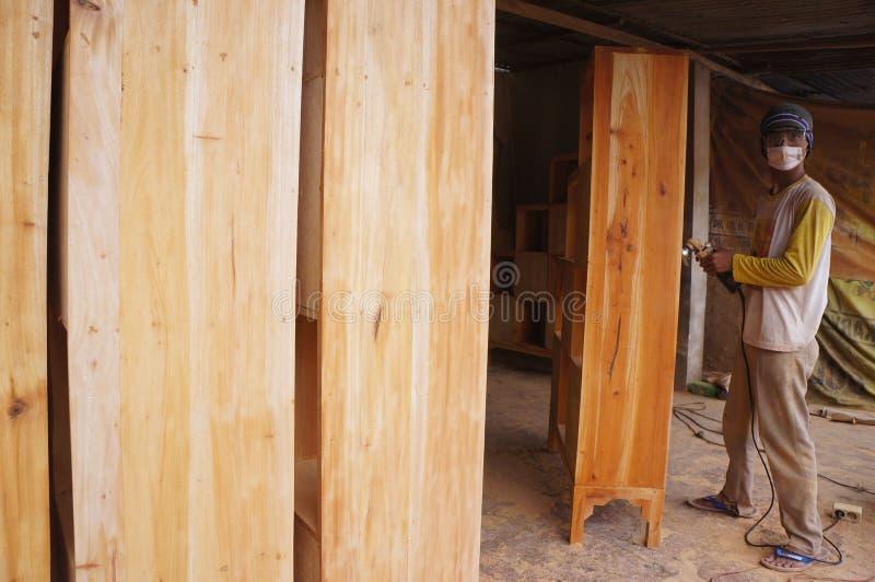 Muebles de madera fotos de archivo