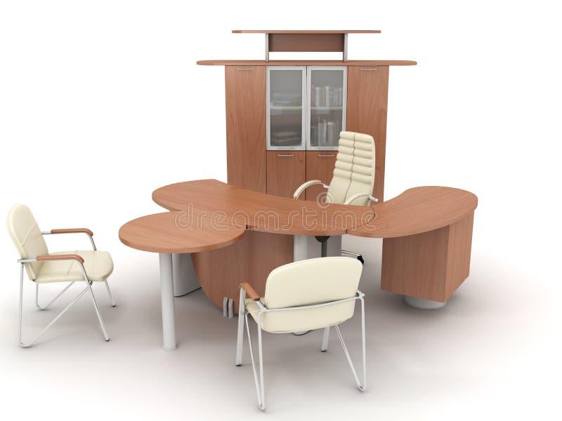 Muebles de oficinas stock de ilustración