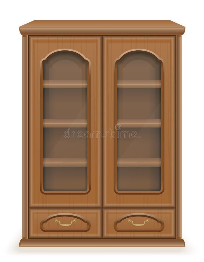 Muebles del armario hechos del ejemplo de madera del vector ilustración del vector