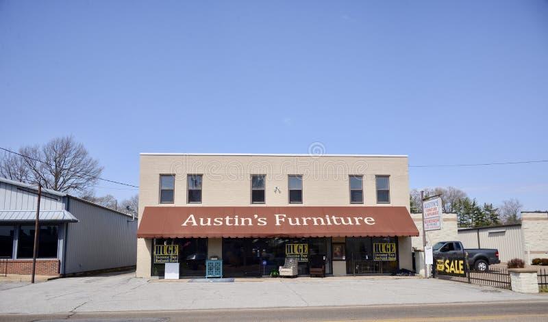 Muebles del ` s de Austin, Brownsville, Tennessee imagen de archivo libre de regalías
