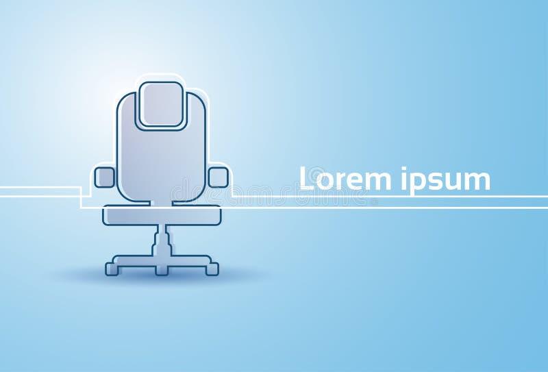 Muebles del sitio vacío de la silueta de la silla de la oficina aislados stock de ilustración