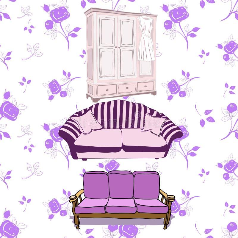 Muebles del vintage libre illustration