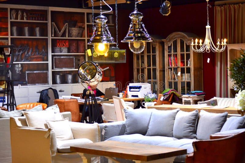 Muebles interiores modernos fotografía de archivo