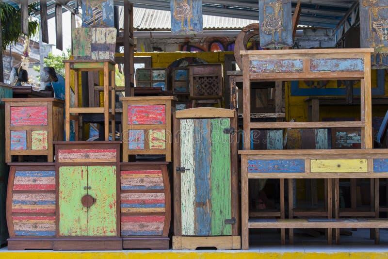 Muebles Lamentables Del Viejo Vintage, Textura De Madera En El ...