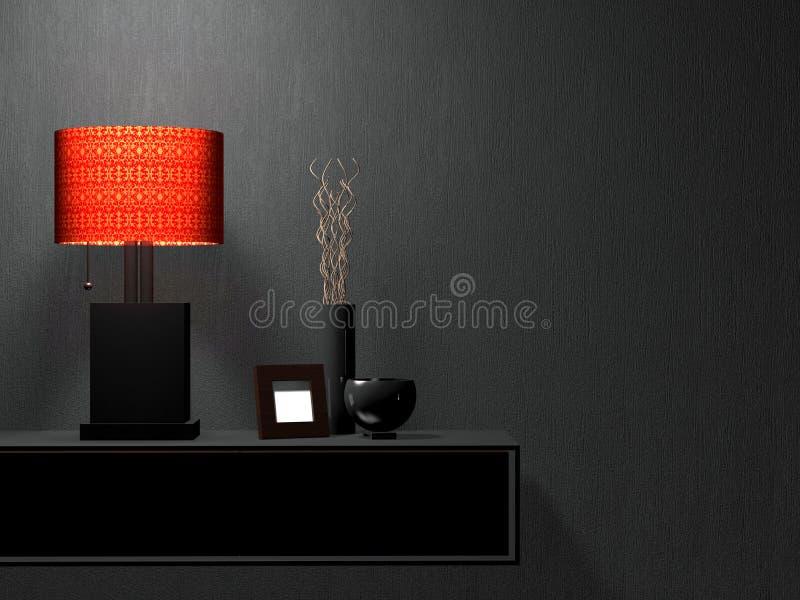 Muebles modernos de la sala de estar. Diseño interior. ilustración del vector