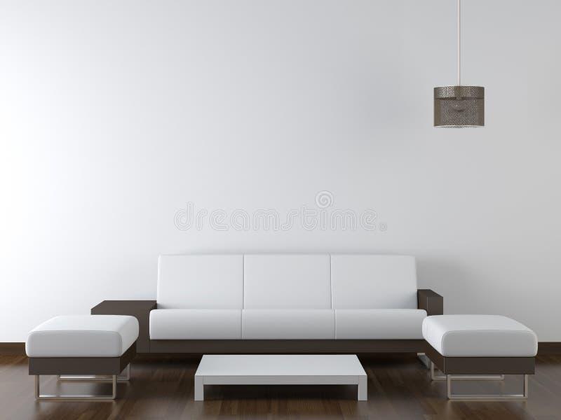 muebles modernos del diseo interior en la pared blanca foto de archivo libre de regalas