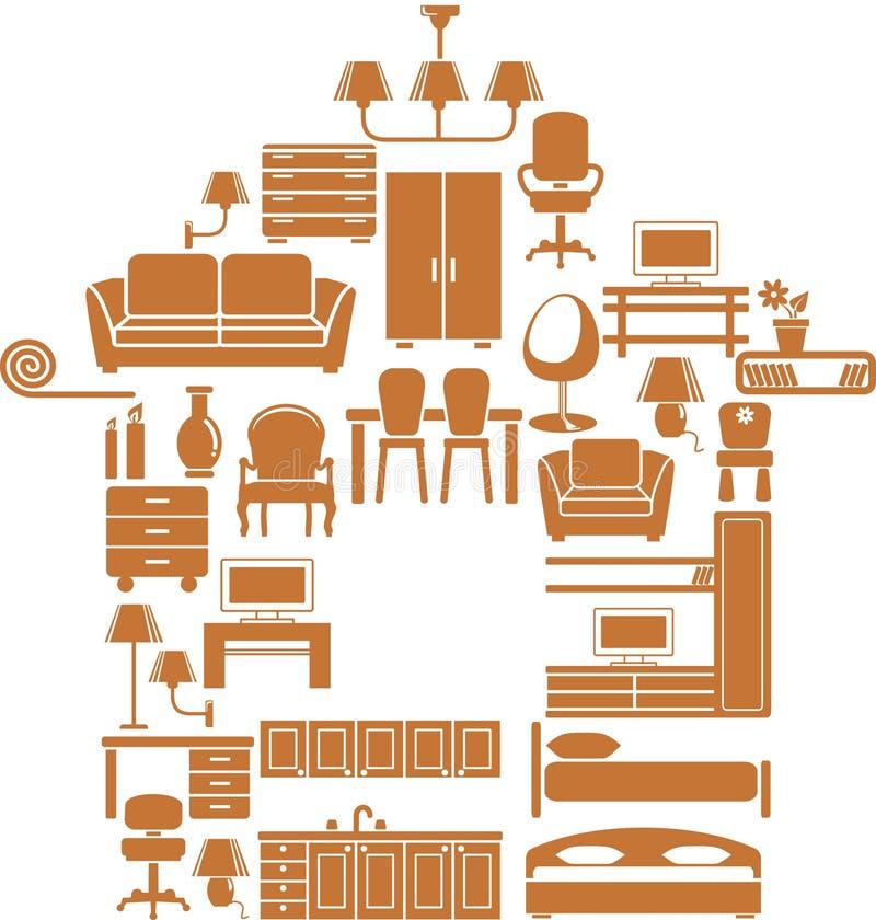 Muebles para la casa stock de ilustración