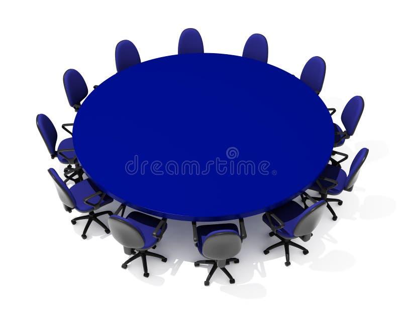 Muebles para la reunión ilustración del vector
