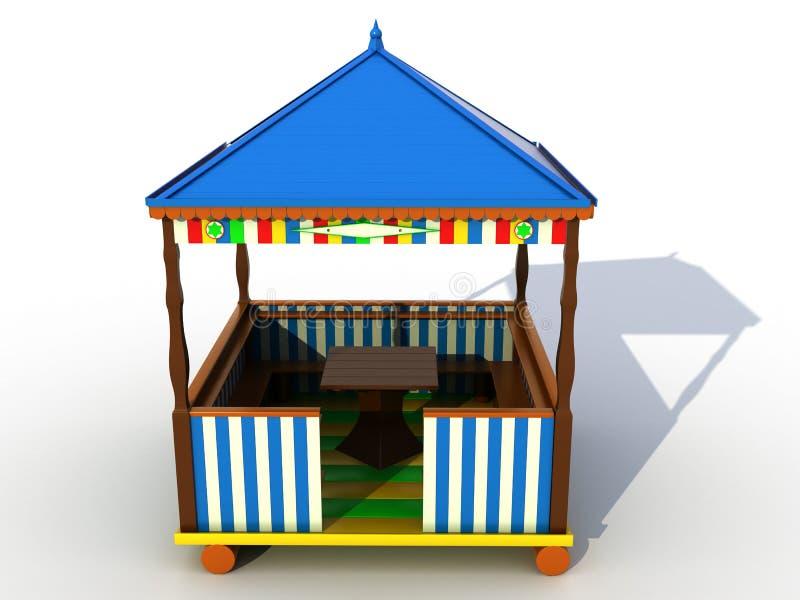 Muebles Plásticos Coloridos â2 Del Jardín Stock de ilustración ...