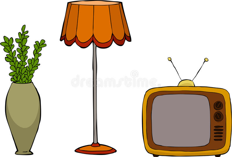 Muebles retros libre illustration