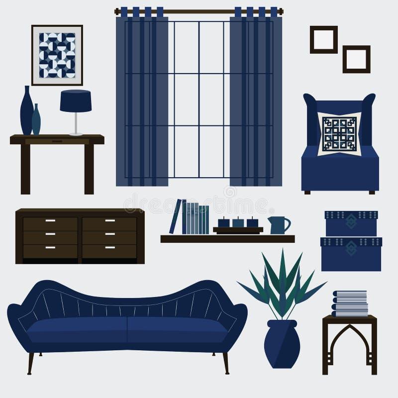 Moderno Azul Sala De Estar Muebles De La Silla Colección - Muebles ...