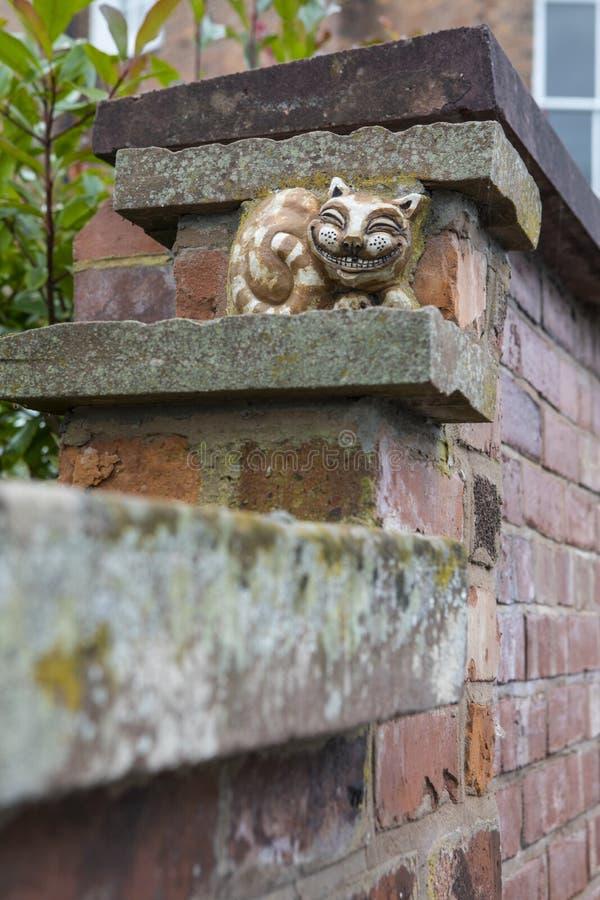 Mueca de Cheshire Cat en Chester imagen de archivo