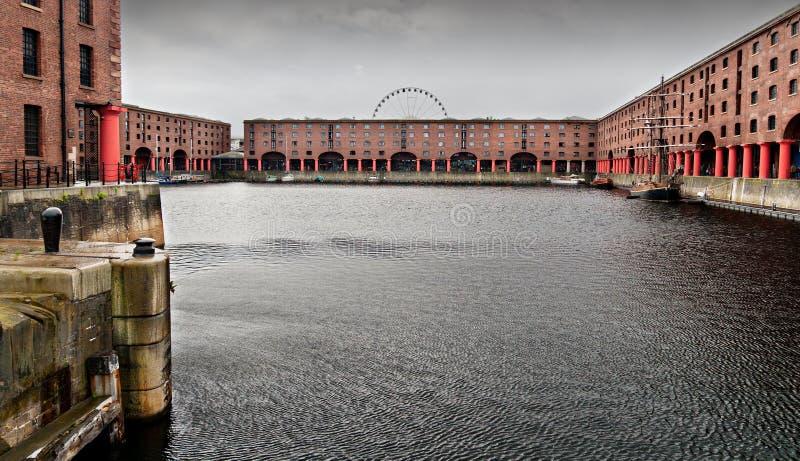 Muelle de Albert en Liverpool, Inglaterra fotografía de archivo