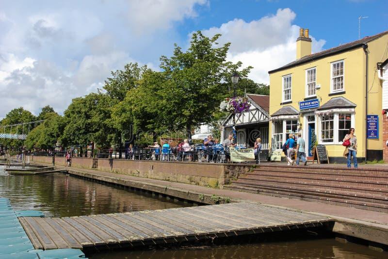 Muelle de Dee del río. Chester. Inglaterra fotos de archivo