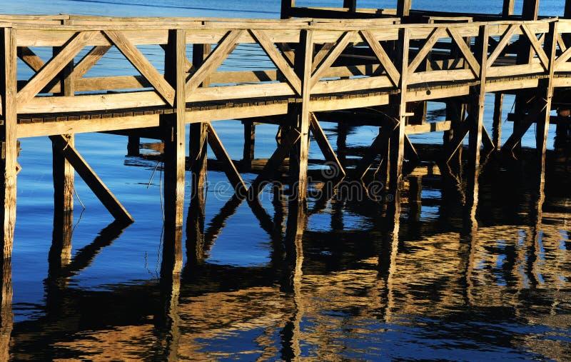 Muelle de la pesca en Chicot fotografía de archivo libre de regalías