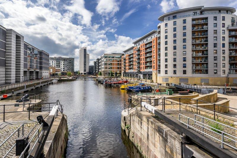 Muelle de Leeds en la ciudad de Leeds fotos de archivo libres de regalías