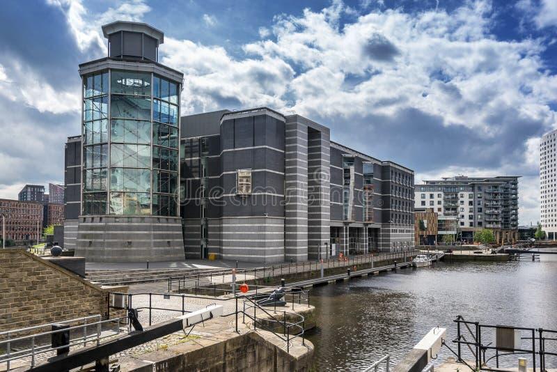 Muelle de Leeds en la ciudad de Leeds imagenes de archivo