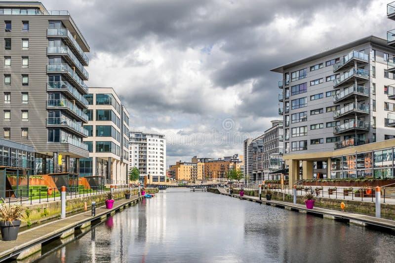 Muelle de Leeds en la ciudad de Leeds fotos de archivo