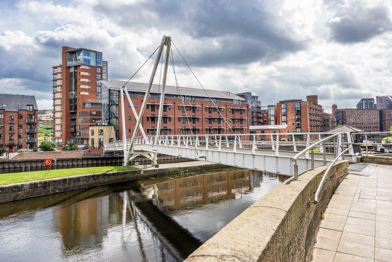 Muelle de Leeds en la ciudad de Leeds fotografía de archivo