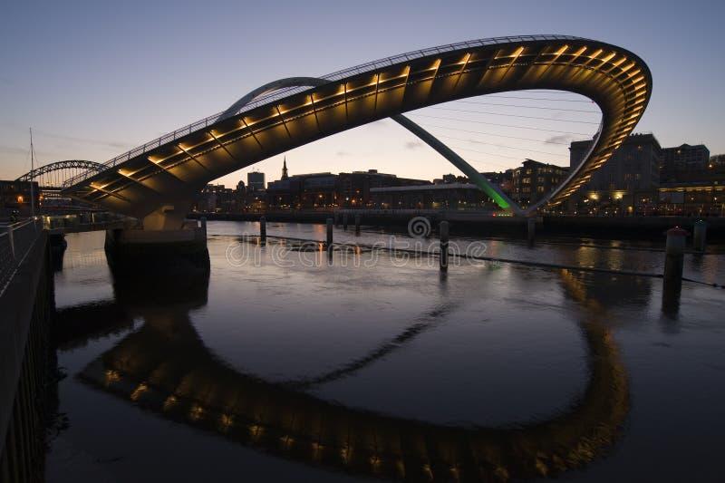Muelle de Newcastle fotos de archivo